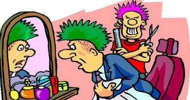 """Приходить дуже сумний чоловік до перукаря і каже  – """"Підстрижіть мене, може, мені краще стане""""."""