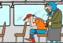 Їде трамвай містом.В трамваї сидить студент біля неї старенька бабця.