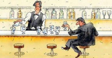 Чоловік заходить в бар, замовляє віскі: – Скільки з мене?